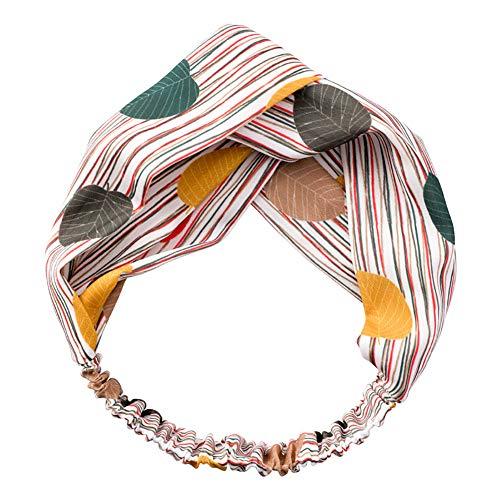 Monbedos Retro vrouwen make-up haarband bladeren geknoopt haarband badkamer haarband 15 cm diameter, 50 cm lengte groen