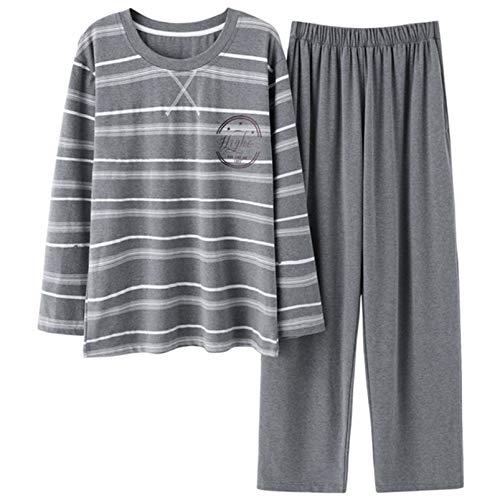 LangfengEU Pijama Top con Cuello en V Lazo Nudo Estilo Dulce Comodidad No deformado Pijama Retro Parte Inferior Suave Otoño Invierno Conjunto de Pijama Diario