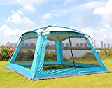 ZXCVBW Ultralarge 5-8 Personen verwenden 365 * 365 * 220 cm sonnendach große pavillon Camping Party Familie Garten Zelt Grill markise