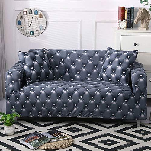 ASCV Funda de sofá geométrica elástica elástica Moderna Funda de sofá para Silla Fundas de sofá para Sala de Estar Protector de Muebles A3 4 plazas
