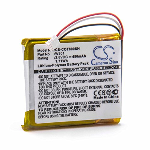 vhbw Litio polímero batería 450mAh (3.8V) para smartwatch Reloj Pulsera de Fitness de Actividad Codio K8, T8