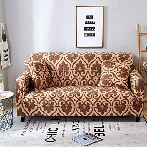Emoshayoga Sofa Protector Langlebige staubdichte Sofabezug wasserdichte elastische Schlafzimmer(Three Persons 190-230cm)