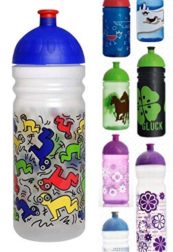 ISYbe Trinkflasche, schadstofffrei, spülmaschinengeeignet, auslaufsicher (700ml, Haring, transparent)