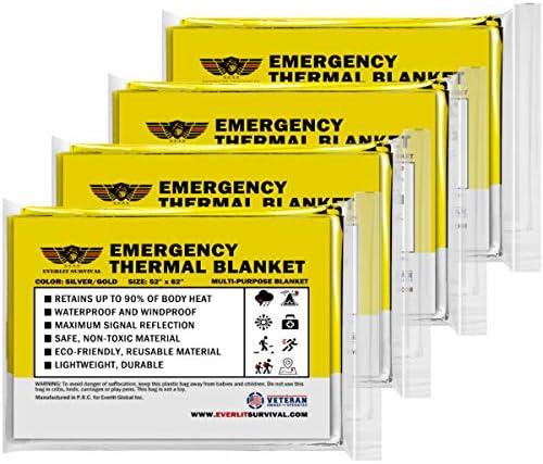 EVERLIT Survival Emergency Blankets Thermal Blanket Space Blankets Survival Blankets First Aid product image