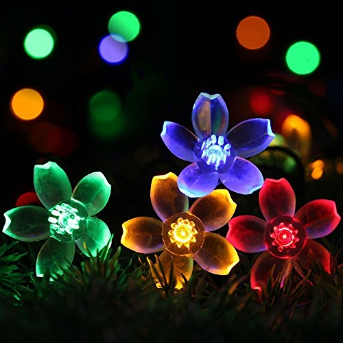 Fairy String Lights Christmas Decorative Lights 33 Feet 100 LEDs, 8 Flash Modes with Tail Plug Connectable Cherry Flower Decoration Novelty Light for Party, Patio, Wedding, Home and Garden 6