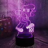 Mario cube 3D visual creativo lámpara de mesa pequeña acrílico multicolor pequeña luz de noche decoración creativa lámpara de mesa pequeña luz LED múltiples colores