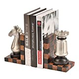 ZZYJYALG Bookend Resin Ajustable Chess Style Home Office Escritorio Sala de estar Sala de estar Estudio Libro Libro Clip Clip Reliance Desk Escritorio Estudiante Caja de almacenamiento Estantería Deco
