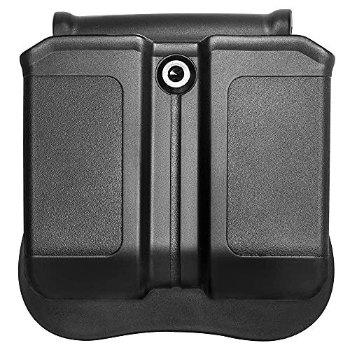 Tactical Scorpion Gear TSG-MPG3 Polymer Modular Double Magazine Pouch Fits: Glock 17 19 22 23 26 27 31 32 33 - Black
