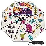 Conjunto de Elementos Florales Coloridos Hermosos Manual Ple