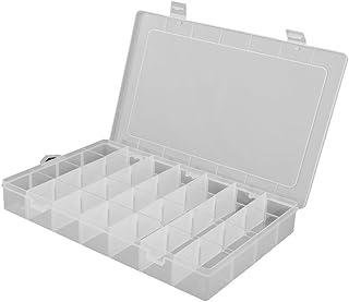 LEORX Caja Compartimentos Divisores ajustables joyería grano organizador caja contenedor estuche -28 rejilla