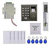 B Blesiya - Kit de sistema de control de acceso de puerta de huella digital RFID definen la seguridad en el hogar