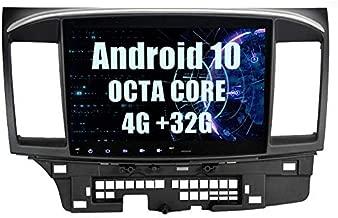 SYGAV Android 10 Car Stereo 8 Core 4G Ram GPS Navigation Radio for 2008-2017 Mitsubishi Ralliart Lancer EVO X Head Unit Without OEM Rockford Fosgate AMP