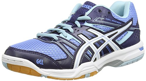 ASICS - Gel-Rocket 7, Scarpe Pallavolo da donna, blu (powder blue/white/indigo blue 4701), 43.5 (9 UK)