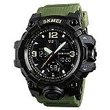 Skmei Reloj deportivo clásico popular analógico cómodo para hombre, digital, resistente al agua, bonito reloj de pulsera