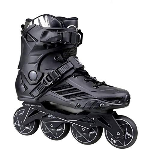 Ajustable Patines En LíNea Zapatillas De Skate For Adultos Pu Flash Velocidad De La Rueda Patines En Línea Zapatos De Los Unisexo Adultos Y Adolescentes WomenLady Patines Zapatillas De Deporte Profesi