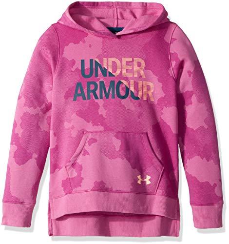 Under Armour Under Armour Mädchen Oberteil Rival Hoody, Fluo Fuchsia/Peach Horizon (565), YSM, 1317839