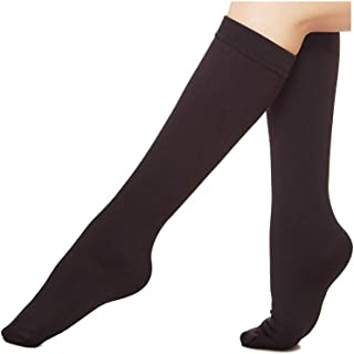 6 Pairs Women's Opaque Plush Fleece Lined Trouser Socks Knee High Stocking