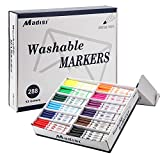 Madisi Washable Markers, Super Tips Markers, Assorted Colors, Classroom Bulk...