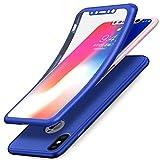 Coque iPhone X,Etui iPhone X,Coque iPhone X Etui,ikasus Intégral 360 Degres Full Body Protection Etui Film Protection en Verre...