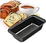 HKRT Moldes para magdalenas y magdalenas, moldes para hornear panes, moldes para tartas, pan, tostadas, hogar, cocina, suministros para hornear, color negro