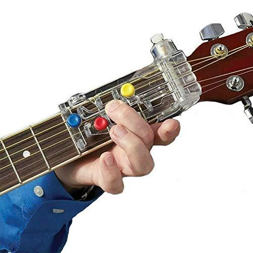 Free Size Ganquer ABS Chord Buddy Adolescentes Ense/ñanza Sistema Entrenador Adultos Guitarra Aprendizaje Ayuda Pr/áctico Duradero Guitarra Aprendizaje Sistema Ense/ñanza Ayuda Colorido