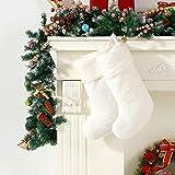 Berkshire Blanket Christmas Stocking 2 Pack, Cream Shimmer Sherpa