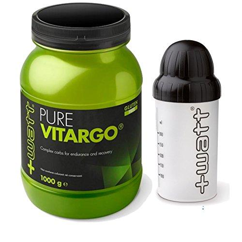 +WATT PURE VITARGO 1000 GR. 1KG Amidi a rapido assorbimento per un pronto recupero muscolare. Gluten free + SHAKER INCLUSO !