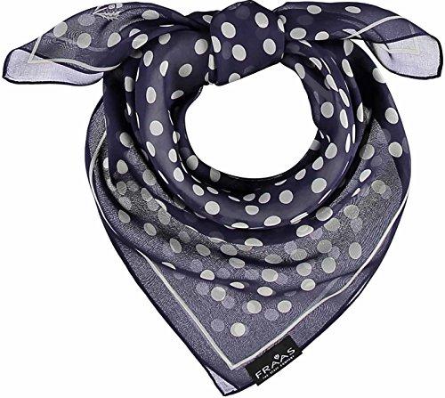 FRAAS Damen Tuch mit Polka Dots aus reiner Seide Trilby, Blau (Navy 590), One Size
