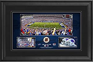 "Buffalo Bills Framed 10"" x 18"" Stadium Panoramic Collage with Game-Used Football - Limited Edition of 500 - Fanatics Authentic Certified"