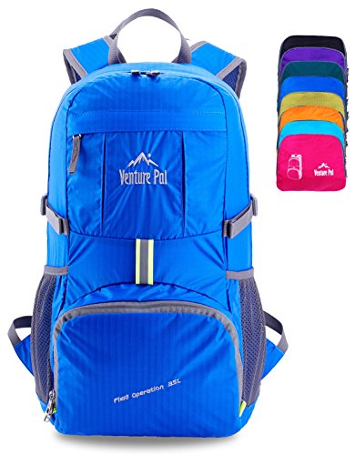 Venture Pal Lightweight Packable Durable Travel Hiking Backpack Daypack (Royal Blue)