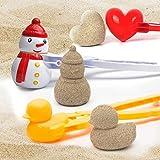Snowball Maker, Fun Winter Outdoor Snow Toys Love Heart Snowball Maker Tool, Duck Shaped/Heart Shaped/Snowman Snowball Maker Clip, Perfect Outdoor Play Snow Toys (Heart + Duck + snowman, 3 Pcs)