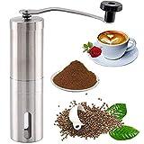 Molinillo de café manual Portátil Ajustable Molinillo Burr Ajustable y Cono Cerámica Molinillo Burminder Manual Mini Grano de Café Mini Grano