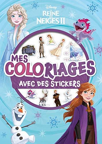 Coloriage La Reine des Neiges 2 avec stickers
