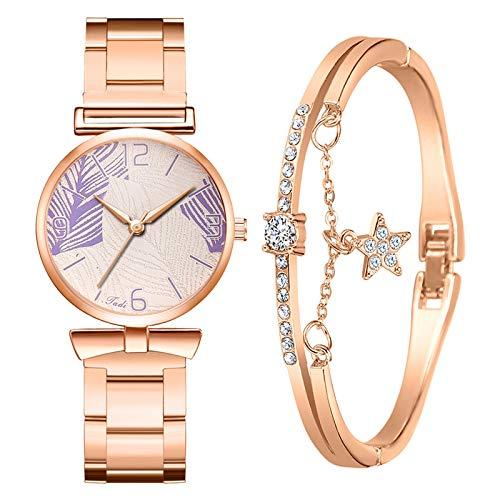 Yue668 Reloj De Diamantes De Agua Con Pulsera De Estrella De Cinco...