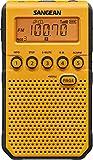 Sangean DT-800YL AM / FM / NOAA Weather Alert / Rechargeable / Alarm Clock / 45 Pre-Sets / Pocket Radio (Renewed)