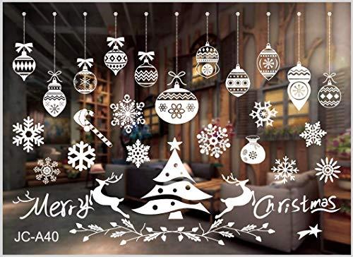 Fensterbilder Weihnachten Selbstklebend, Winter-deko Weinachts Dekoration, Weihnachten Fenstersticker, Fensteraufkleber PVC Fensterbilder Weihnachten Fensterdeko selbstklebend Fensterfolie Weinachts