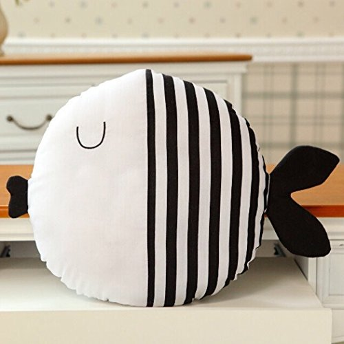 outgeek Kinder Kissen Spielzeug, Kissen Spielzeug Cute Cartoon Fisch Puppe Baumwolle Dekokissen Spielzeug