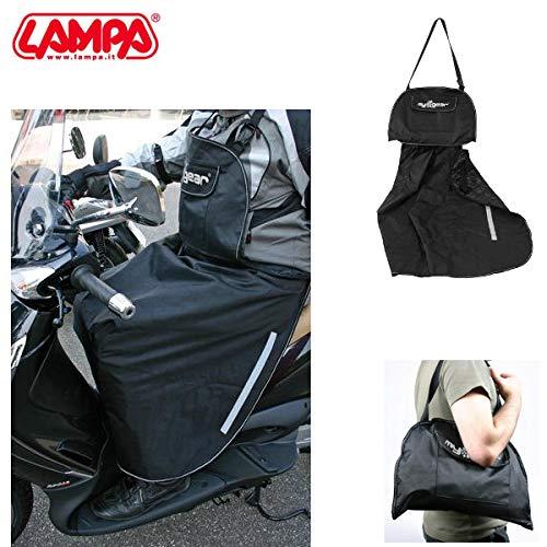 91336 Cubrepiernas cubrepiernas con Pechera Bombilla Compatible con Aprilia SR 50 1998 98 Impermeable antiviento Negro Scooter de Montaje rápido
