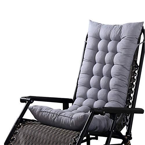 HotYou Cojín para Tumbona sillón reclinable Lounge de Almohadilla para Patio jardín Hamaca al Aire Libre Cubierta,Gris,125 * 48 * 8 CM