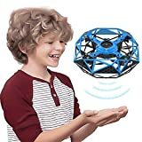 Indoor Hand Operated Drone for Kids Toddlers Adults, Rodeo Hands Free UFO Flying Toys for Boys and Girls, Hand Controlled Mini Drones Covered with 6 Infrared Sensors, Self Flying UFO Party Game Toys