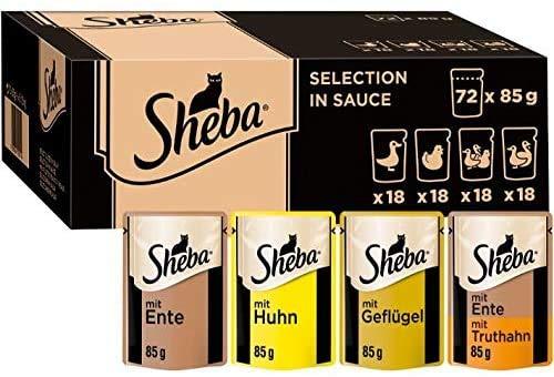 Sheba PB MP Gefleugel in Sauce 72X85g ECOM