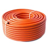 Quantum Garden - Tubo de butano de propano para Acampada (8 mm, 4 m), Color Naranja