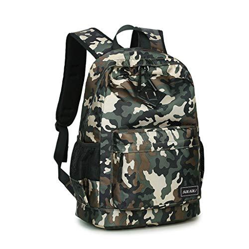 Junge Rucksack Schultasche,Kinder Rucksack Rucksack Daypack Reisetasche,Camouflage Printed Grundschule Nylon Rucksack Student Laptop Bookbag mit Federmäppchen (Dunkelgrün)