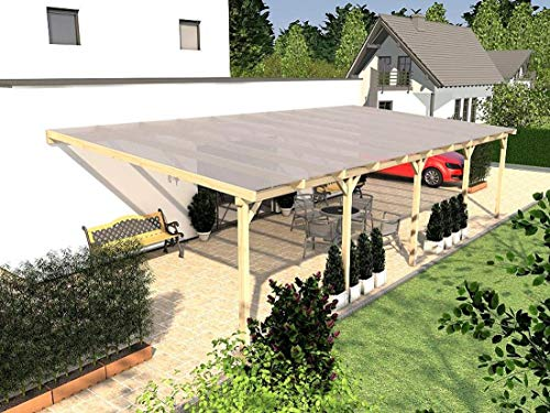 Prikker Terrassenüberdachung Usedom XII Wintergarten 1000 x 500 cm Leimbinder Fichte
