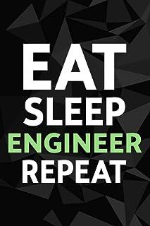 Eat Sleep Engineer Engineering Funny Student Gift Meme Password kog book: Alphabetized Internet Password Keeper and Organi...