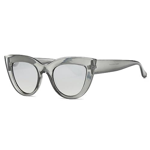 c4c817ce79 Kimorn Sunglasses For Women Metal Hinges Cat Eye Plastic Frame Sun Glasses  K0568