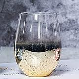 RichAmazon 2 pezzi / Lotto 500 ml di vetro di cristallo resistente al calore stella cielo tazza bicchieri bicchieri acqua salsa birra flip flip
