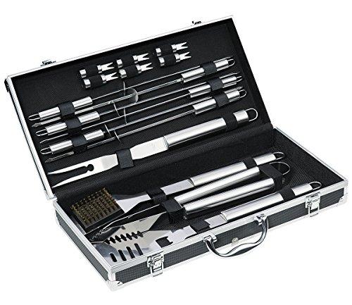 Küchenprofi ARIZONA barbecueset, 16-delig, zwart aluminium koffer, ideale cadeauset