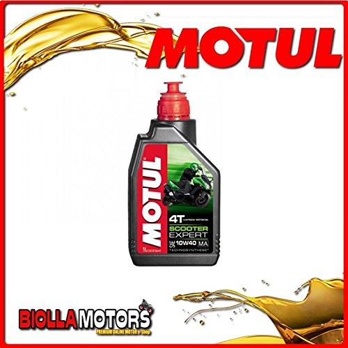 Motul34–Bote de 1litro de aceite Motul Scooter Expert 4T 10W40Ma 4-Stroke