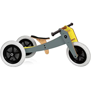 Wishbone Bike 3in1 in Grey, Quality Convertible Balance Bike, Ages 12 months to 5 years